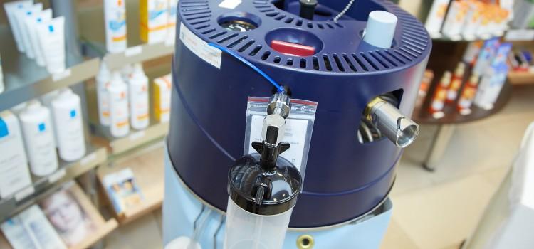 Sauerstofftankstelle für COPD-Patienten